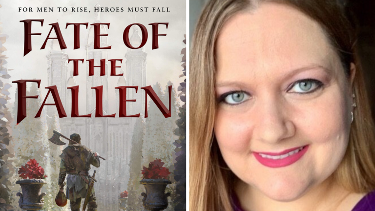 The Cover of Fate of the Fallen, and a Photo of Author Kel Kade