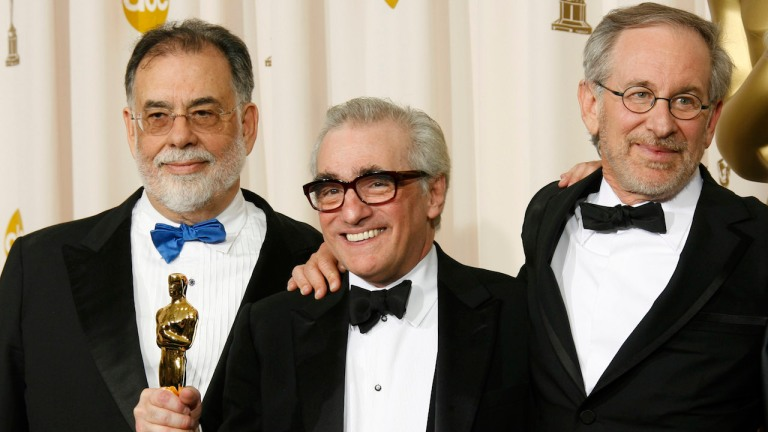 Martin Scorsese Francis Ford Coppola and Steven Spielberg at the Oscars