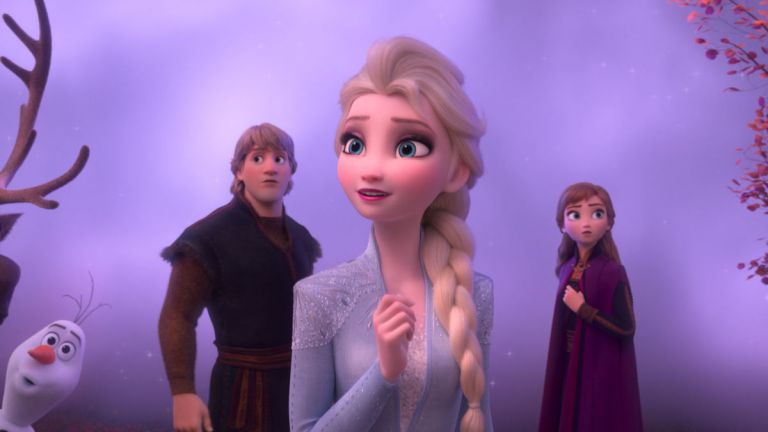 Elsa and Anna and Kristoff in Frozen 2