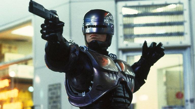 Peter Weller in RoboCop; Orion, MGM