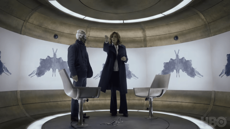 Detective Looking Glass and FBI Agent Laurie Blake in Watchmen Episode 3