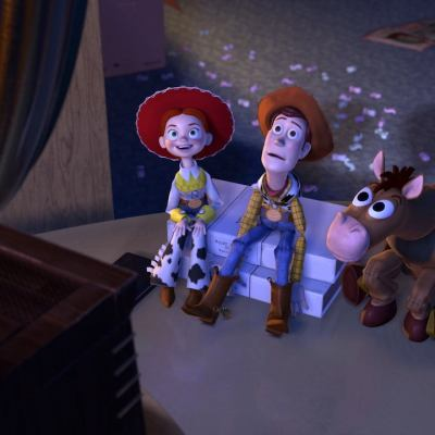 Woody, Jessie and Bullseye in Toy Story 2 (1999)
