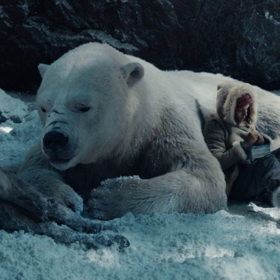 Iorek the Bear and Lyra in His Dark Materials Episode 5