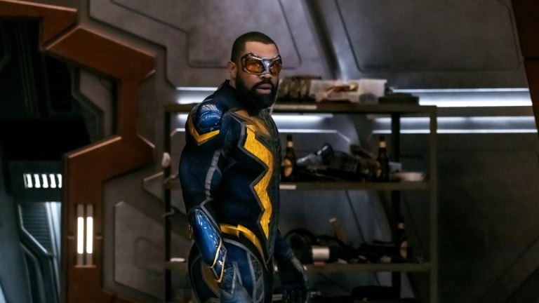 Cress Williams as Black Lightning in Crisis On Infinite Earths Part Three