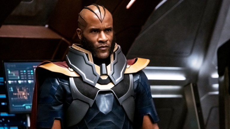 LaMonica Garret as The Monitor in Crisis On Infinite Earths on The CW
