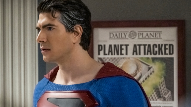 Brandon Routh as Superman in Crisis on Infinite Earths Part 2