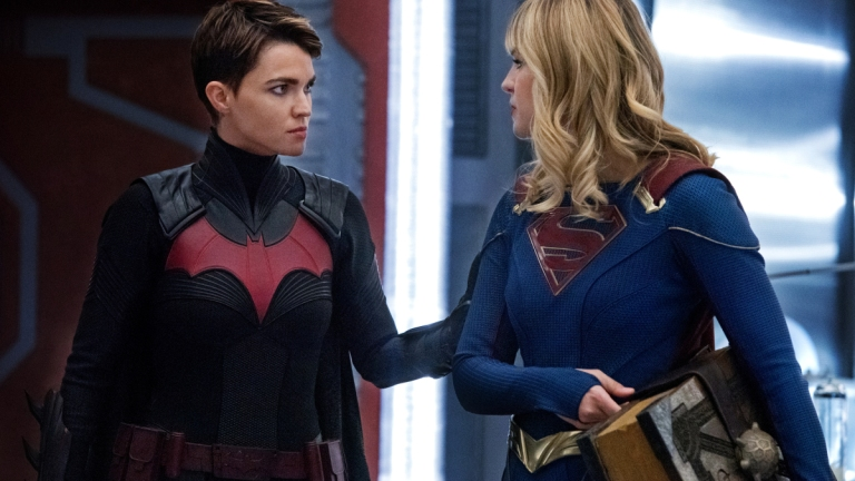 Ruby Rose as Batwoman and Melissa Benoist as Supergirl in Crisis On Infinite Earths: Part Two