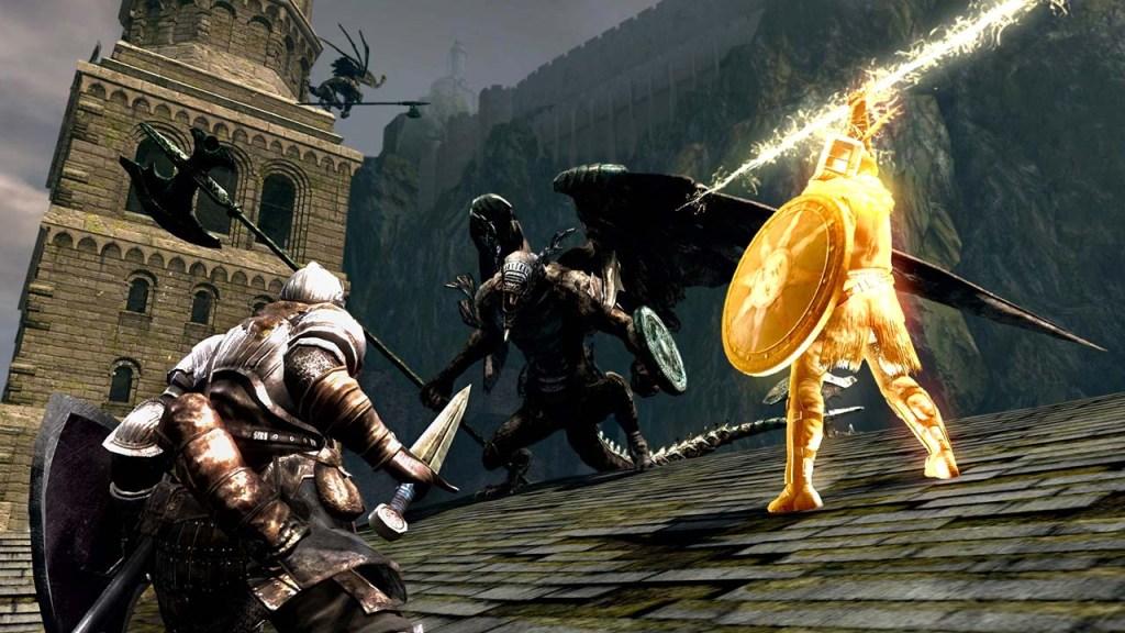 Dark Souls multiplayer battle