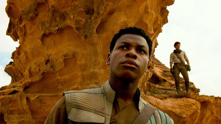 Finn and Poe in Star Wars: The Rise of Skywalker
