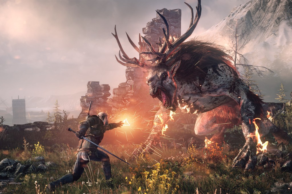 The Witcher 3 fight