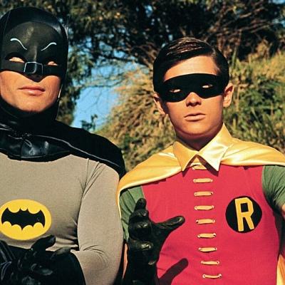 Adam West as Batman and Burt Ward as Robin