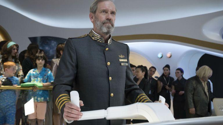 Hugh Laurie as Captain Ryan on HBO's Avenue 5