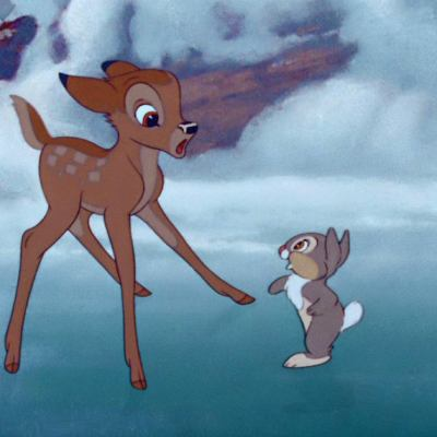 Bambi and Thumper in Bambi (1942)