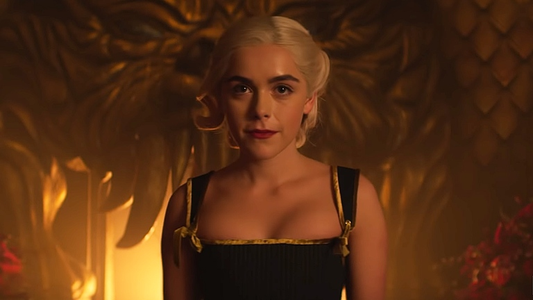 Kiernan Shipka in Chilling Adventures of Sabrina Part 3; Netflix