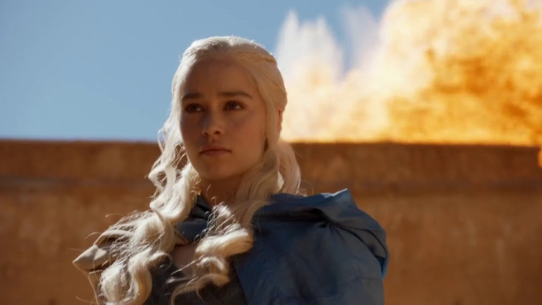 Daenerys Burning Astapor in Game of Thrones Season 3