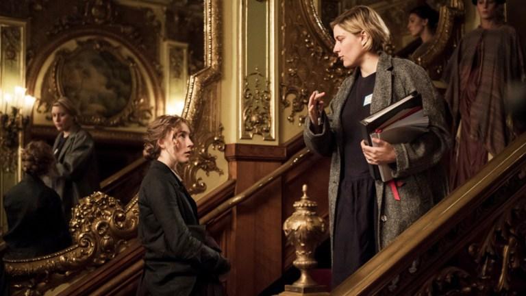 Greta Gerwig directing Little Women
