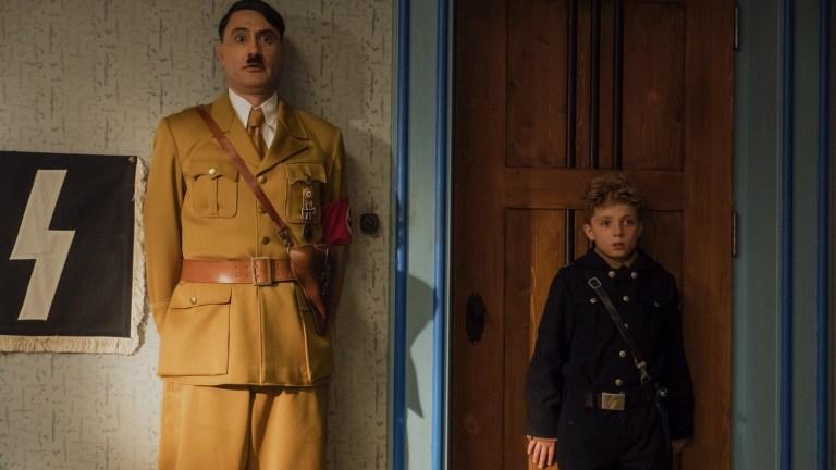 Taika Waititi and Roman Griffin Davis in Jojo Rabbit