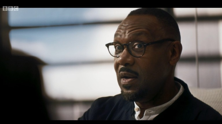 "Lenny Henry as Barton in Doctor Who ""Spyfall"""