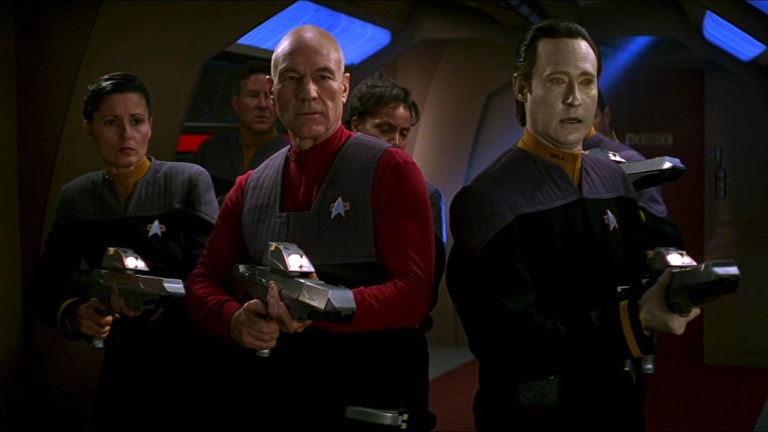 Picard and Data in Star Trek First Contact