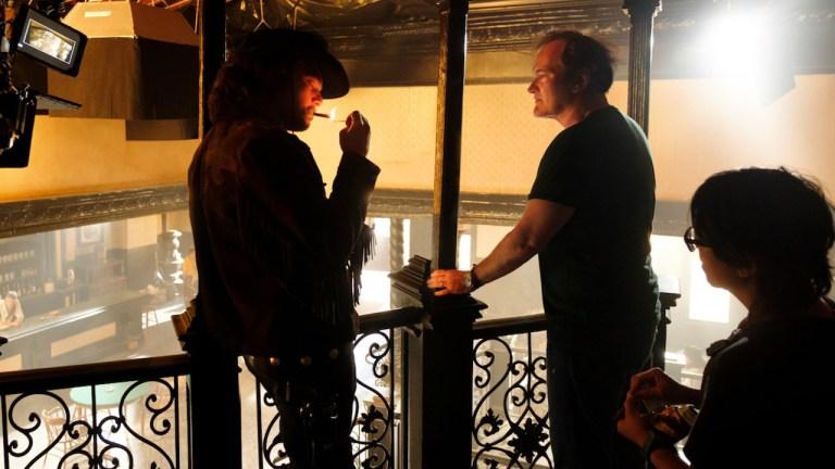 Quentin Tarantino and Leonardo DiCaprio Western