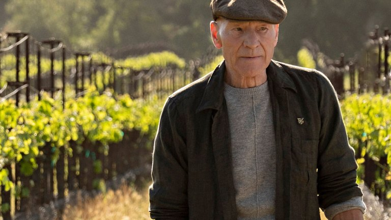 Patrick Stewart as Jean-Luc Picard, Standing at Chateau Picard in Star Trek: Picard