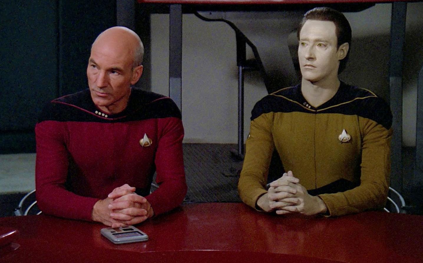 Mens TNG Season 7 Episode 11 Tank Top Star Trek