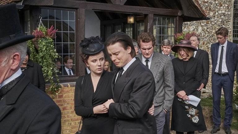 Freddie Fox and Alexa Davies in White House Farm episode 4
