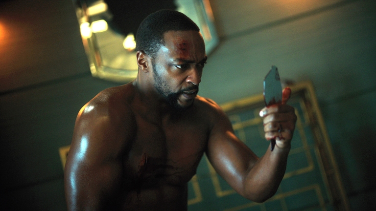 Anthony Mackie as Takeshi Kovacs in Altered Carbon