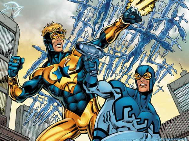 Booster Gold and Blue Beetle in DC Comics