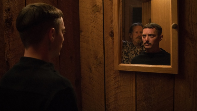 Elijah Wood and Stephen McHattie in Come to Daddy