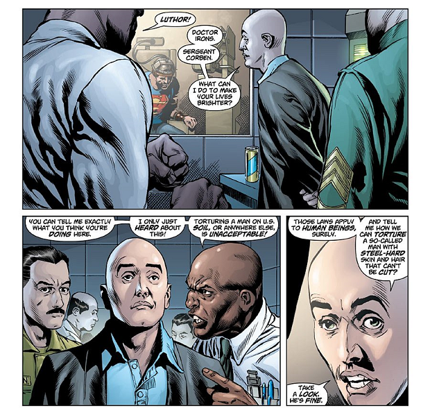 Lex Luthor as Government Consultant on Human Rights