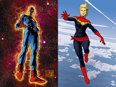 Carol Danvers Just Another Captain Marvel Den Of Geek Marvel a very dramatic sash, (made out of her old scarf!) a staple of his designs for female heroes. carol danvers just another captain