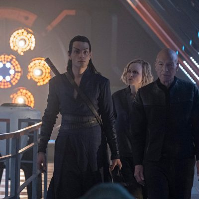 Elnor, Agnes, and Jean-Luc in Star Trek: Picard