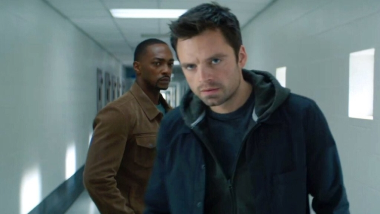 Sebastian Stan And Anthony Mackie In The Falcon And The Winter Solider