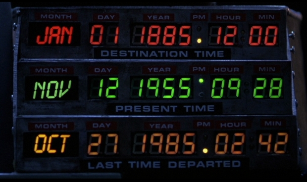 Back to the Future - Red, Yellow and Green