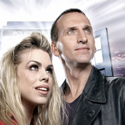 Billie Piper and Christopher Eccleston in Rose Doctor Who