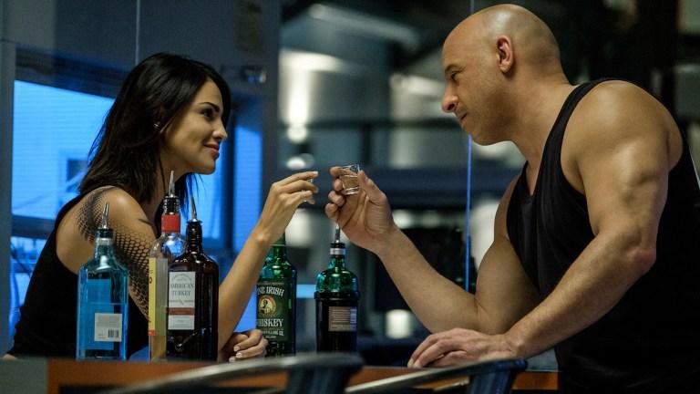 Eiza Gonzalez and Vin Diesel in Bloodshot