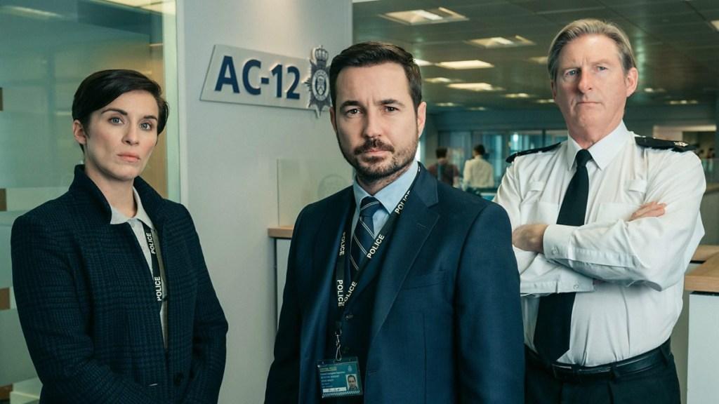 فيكي ماكلير ، مارتن كومستون وأدريان دنبار في Line of Duty