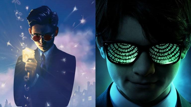 Artemis Fowl book art and movie poster comparison
