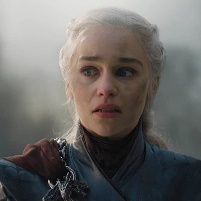 Emilia Clarke as Daenerys Targaryen on Game of Thrones