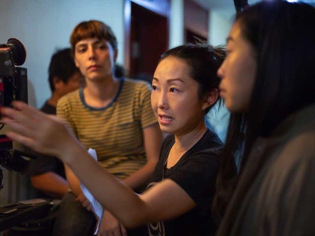 Lulu Wang directing The Farewell