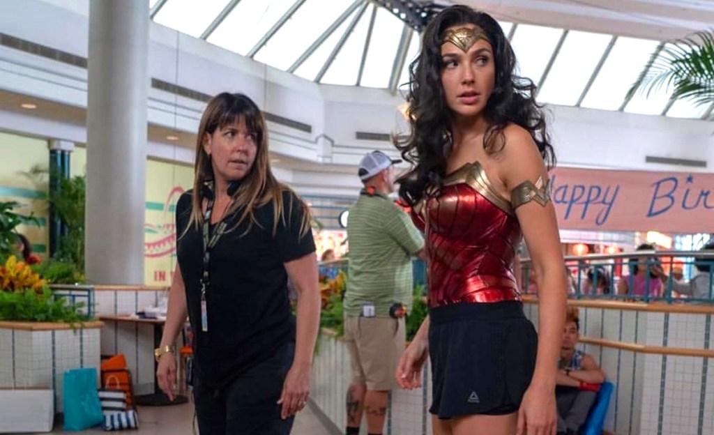 Patty Jenkins and Gal Gadot in Wonder Woman 1984