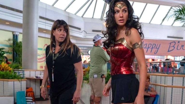 Patty Jenkins on the set of Wonder Woman 1984