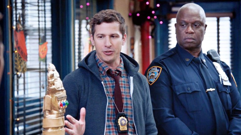 Jake and Holt in the Valloweaster Heist on Brooklyn Nine-Nine
