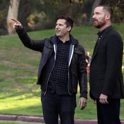 Andy Samberg and Marc Evan Jackson in Brooklyn Nine-Nine Season 7 Episode 12