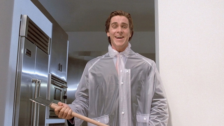 Christian Bale with an Axe in American Psycho