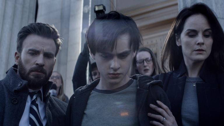 Defending Jacob starring Chris Evans, Jaeden Martell and Michelle Dockery