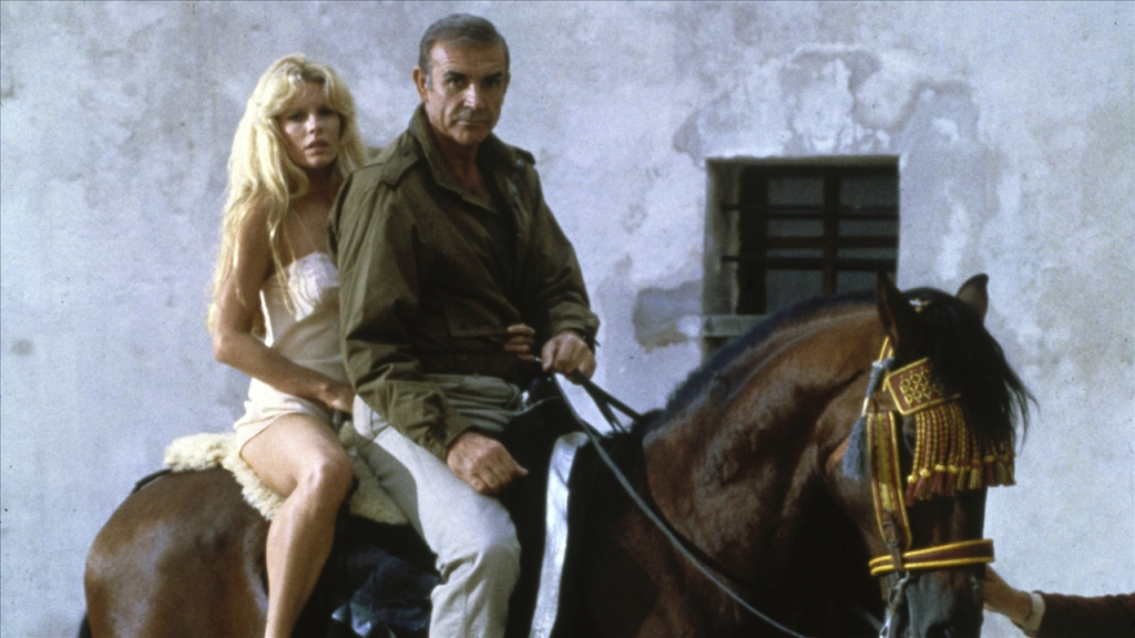 Kim Basinger y Sean Connery en Nunca digas nunca más