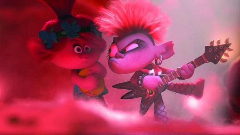 Poppy (Anna Kendick) and Barb (Rachel Bloom) in Trolls World Tour