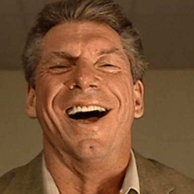 WWE's Vince McMahon laughing